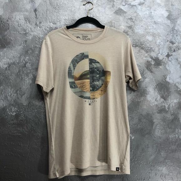 Rip Curl Other - Rip Curl Size Medium Surf Logo T-Shirt Beige